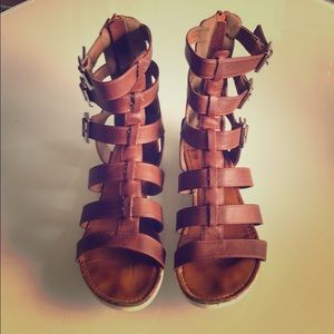 Gladiator sandals bamboo brown